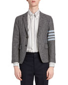 Thom Browne Men's Donegal Tweed Unconstructed Jacket