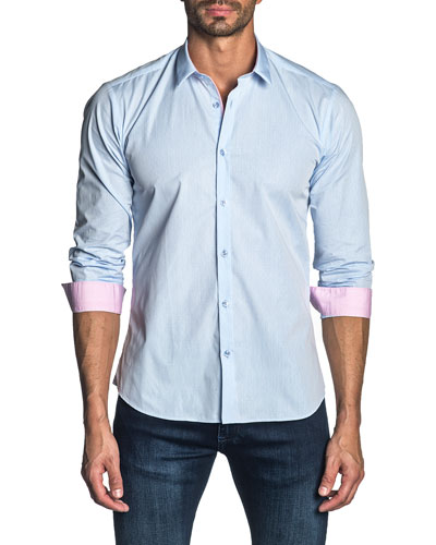 Men's Long-Sleeve Solid Sport Shirt