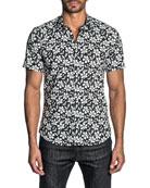 Jared Lang Men's Two-Tone Floral Sport Shirt