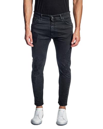 Men's Distressed Skinny Jeans