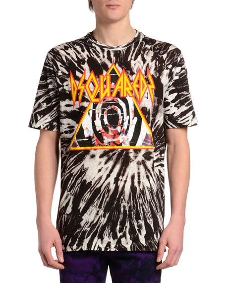 Dsquared2 Men's Tie-Dye Logo T-Shirt