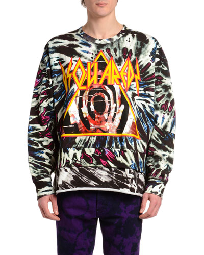 Men's Oversized Tie-Dye Sweatshirt