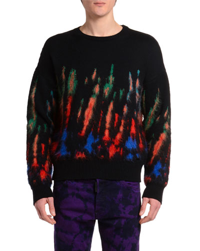 Men's Tie-Dye Knit Sweater