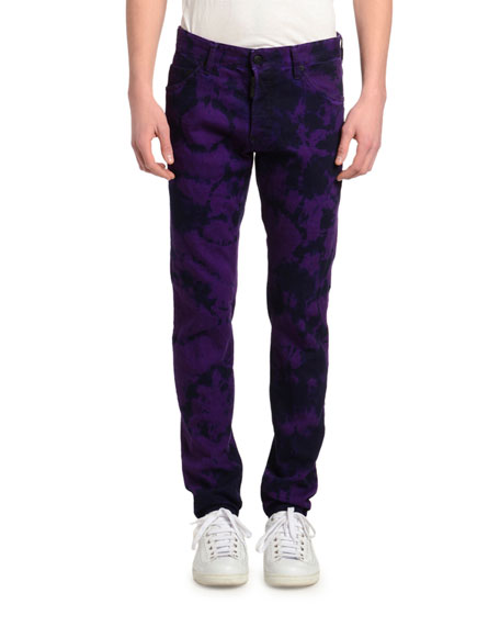 Dsquared2 Men's Tie-Dye Straight-Leg Jeans