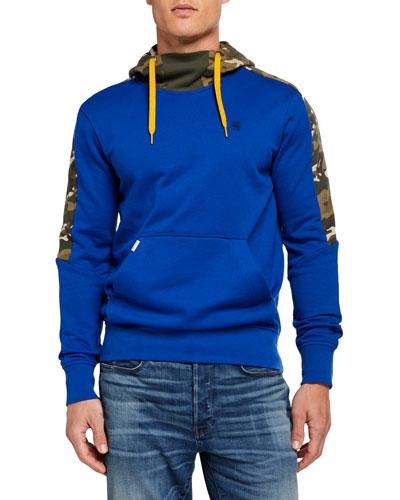Men's Meson Camo-Panel Pullover Hoodie
