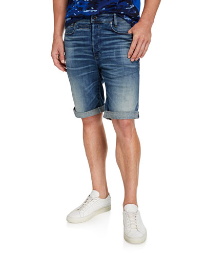 Men's D Staq 12 Oversized-Pocket Denim Shorts