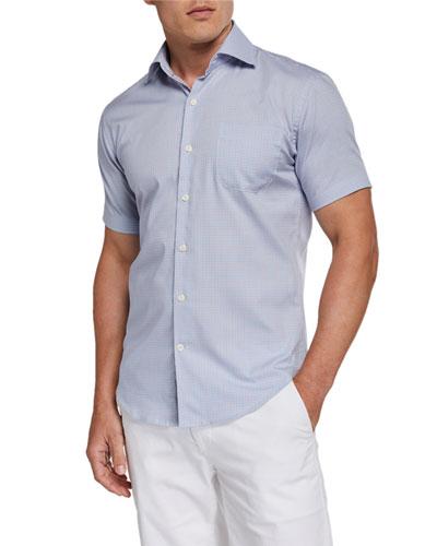 Men's Short-Sleeve Pocket Sport Shirt