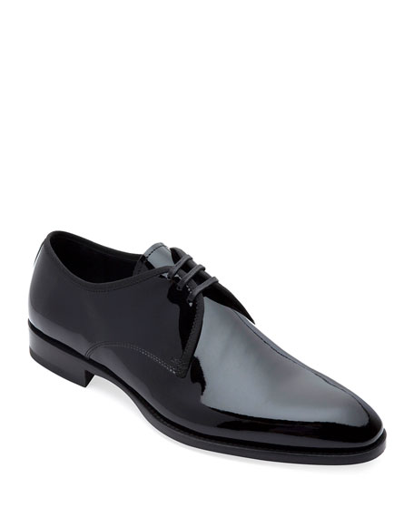 Paul Stuart Men's Hancock II Formal Patent Leather Derby Shoes