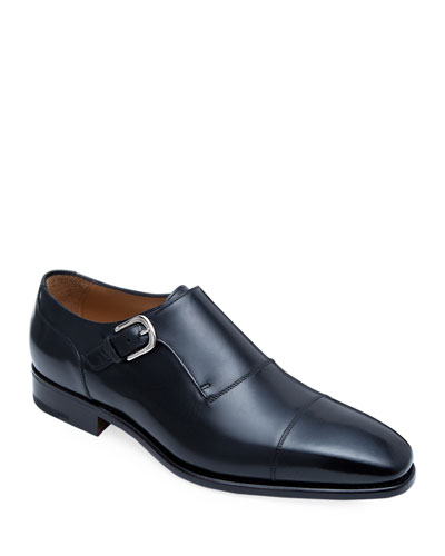 Men's Giordano Single-Monk Leather Shoes