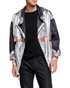 Isabel Marant Men's Tricolor Metallic Wind Jacket