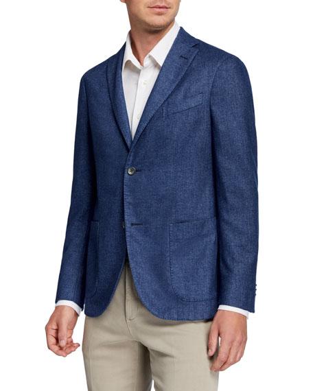 Boglioli Men's Solid Cashmere-Blend Sport Jacket
