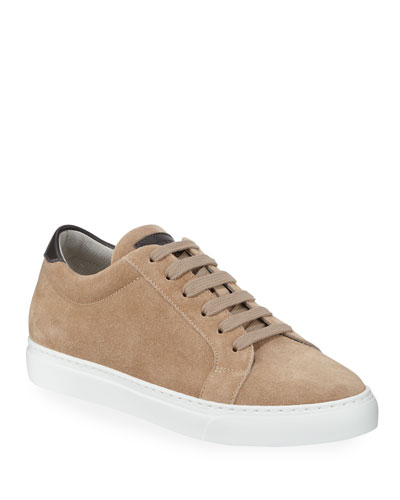 Men's Suede Low-Top Sneakers