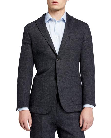 Boglioli Men's Heathered Jersey Two-Piece Suit