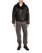 Isabel Marant Men's Aylias Shiny Cotton Jacket with