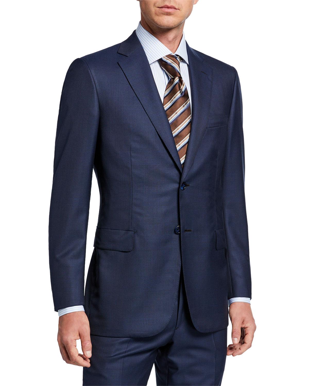 Brioni Suits MEN'S TONAL PLAID TWO-PIECE SUIT