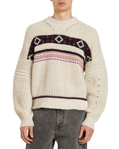 Men's Cooper Western Patterned Sweater