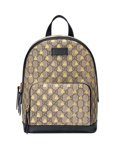 Men's GG Supreme Bee-Print Backpack