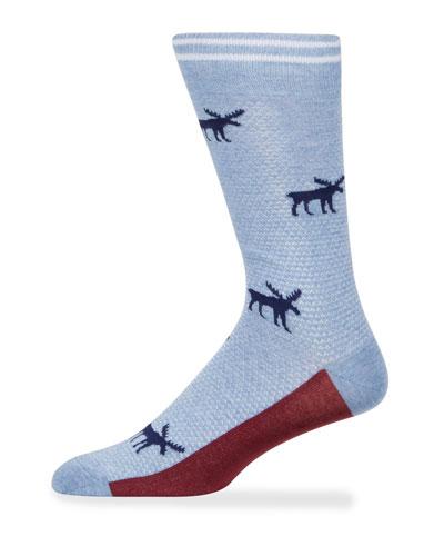 Men's Moose Cotton Socks
