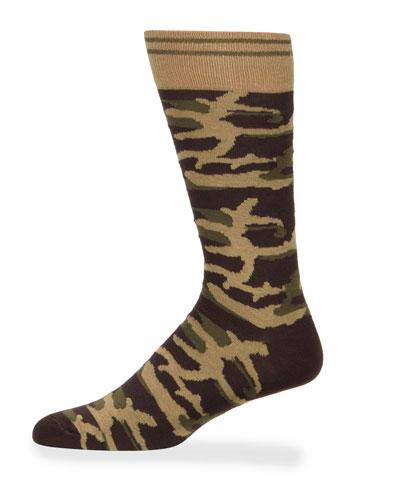 Men's Camo Cotton Socks