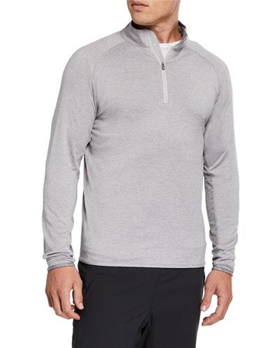 Men's Sydney Stretch Jersey Quarter-Zip Colorblock Sweater