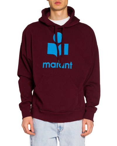 Men's Pullover Hoodie w/ Felted Logo