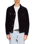Isabel Marant Men's Corduroy Wolf Embroidered-Back Jacket