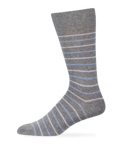 Men's Alternating-Stripe Cotton Socks