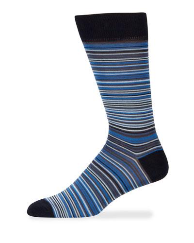 Men's Thin Striped Cotton Socks