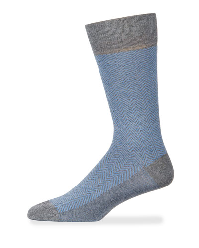 Men's Chevron Cotton Socks