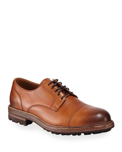 c1159ca0bad8f Quick Look. Brunello Cucinelli · Men's Leather Lug-Sole Derby Shoes
