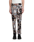 Palm Angels Men's Bridle-Print Track Pants with Side