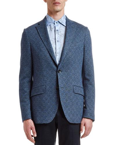 Men's Cotton/Wool Jacquard Sport Coat