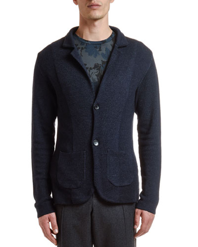 Men's Garment-Dyed Knit Cardigan Sweater