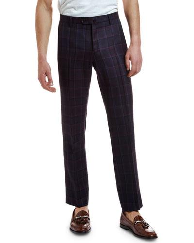 Men's Wool Plaid Suit Separate Trousers