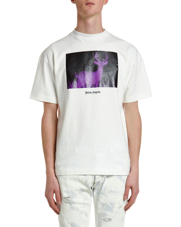 Palm Angels T-shirts MEN'S NIGHT VISION DEER T-SHIRT