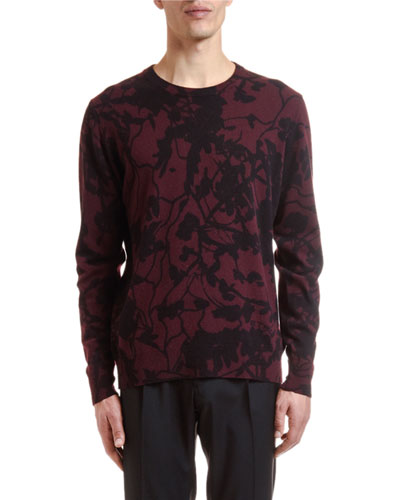 Men's Wool-Cashmere Camouflage Sweater