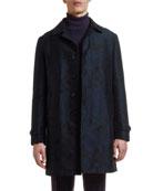 Etro Men's Floral Jacquard Trench Coat