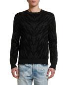 Marcelo Burlon Men's Zebra Intarsia Crewneck Sweater