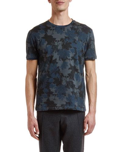 Men's Floral Camo Crewneck T-Shirt
