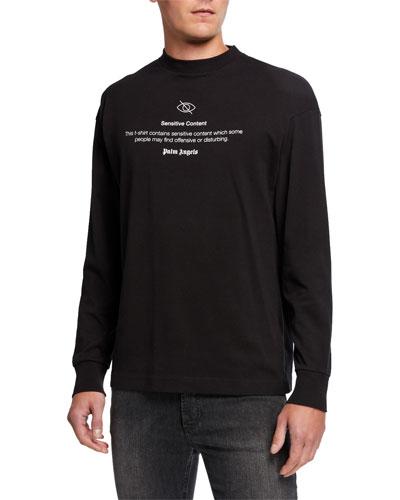 Men's Sensitive Content Graphic Long-Sleeve T-Shirt