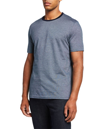 Men's Cotton Contrast-Collar T-Shirt
