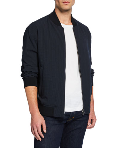 Men's Solid Bomber Jacket
