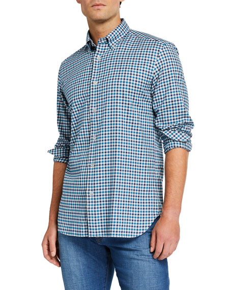 Neiman Marcus Men's Check Cotton Sport Shirt