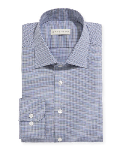 Men's Woven Check Dress Shirt