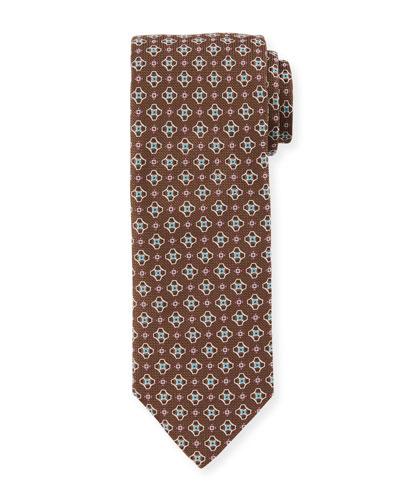 Men's Medallion Silk Tie