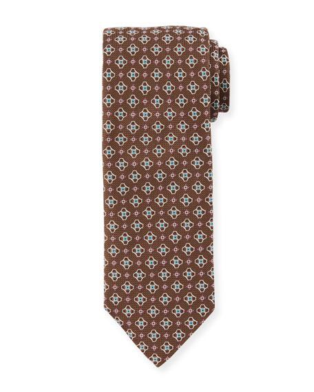 Eton Men's Medallion Silk Tie