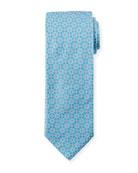 Eton Men's Medallion Floral Silk Tie
