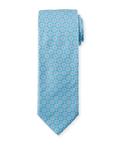 Men's Medallion Floral Silk Tie