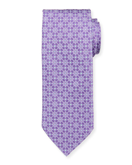 Eton Medallion Floral Silk Tie
