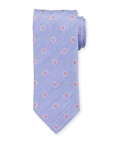 Silk/Linen Medallion Tie